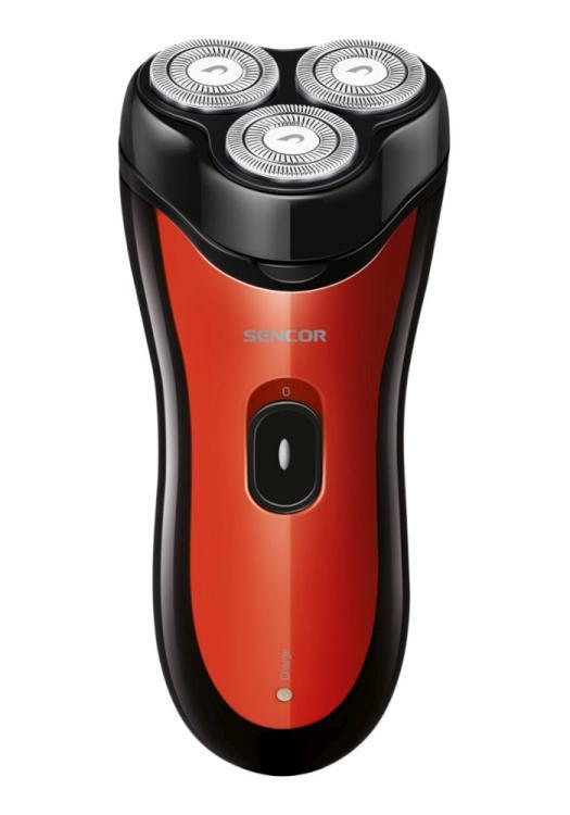 Elektrický holící strojek Sencor SMS 4013RD - červený, 3W + DÁREK ZDARMA