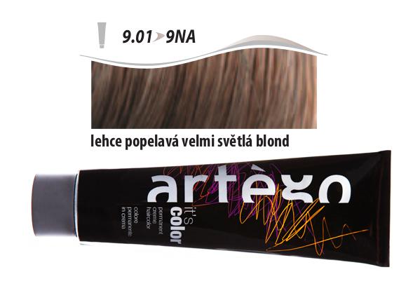 Artégo Krémová barva IT'S Color 150 ml - 9.01, lehce popelavá velmi světlá blond (9.01>9NA)