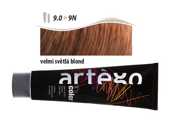 Artégo Krémová barva IT'S Color 150 ml - 9.0, velmi světlá blond (9.0>9N)