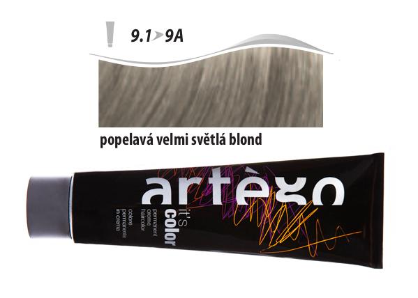 Artégo Krémová barva IT'S Color 150 ml - 9.1, popelavá velmi světlá blond (9.1>9A)