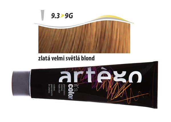 Artégo Krémová barva IT'S Color 150 ml - 9.3, zlatá velmi světlá blond (9.3>9G)