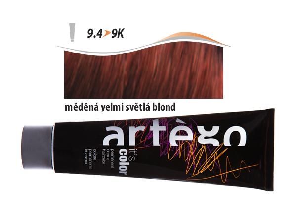 Artégo Krémová barva IT'S Color 150 ml - 9.4, měděná velmi světlá blond (9.4>9K)