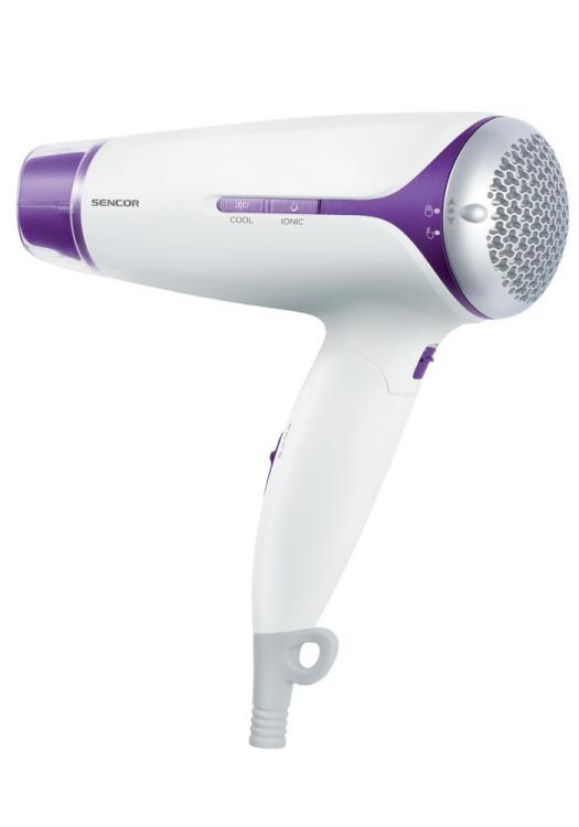Cestovní fén na vlasy Sencor SHD 7220VT - bílo-fialový, 1500W + DÁREK ZDARMA