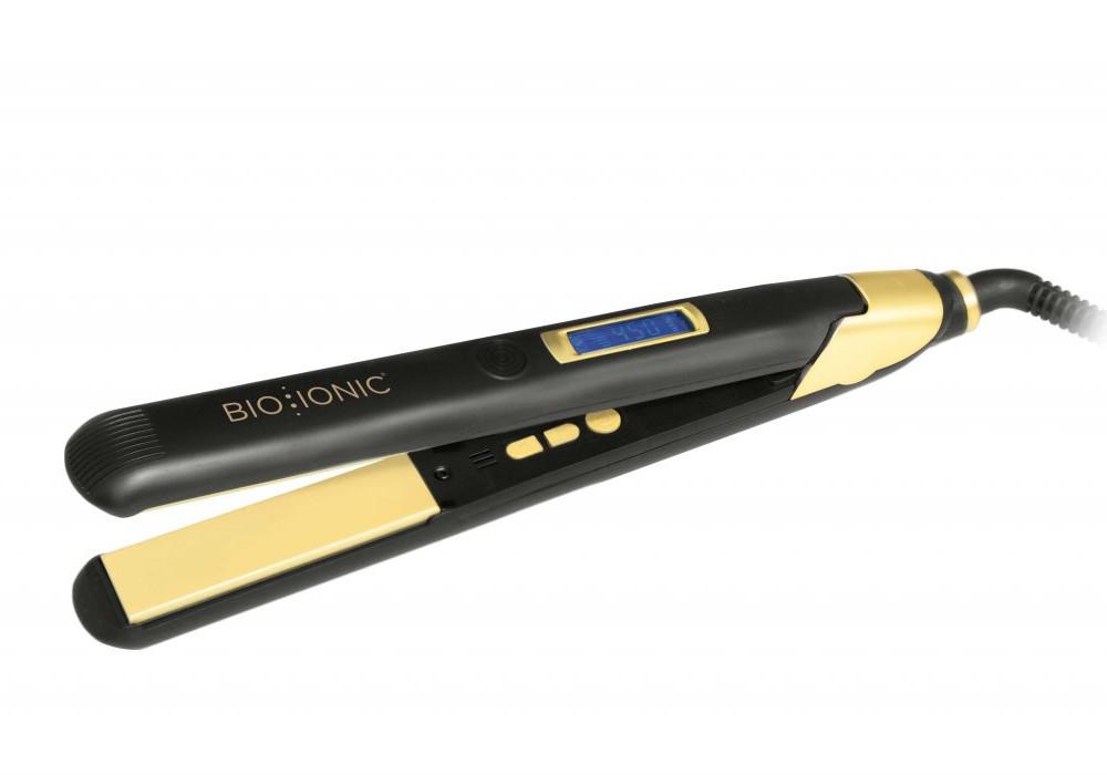 Žehlička na vlasy Bio Ionic s obsahem 24K zlata, 25 mm - černo-zlatá (Z-GPT-SM-1.0) + DÁREK ZDARMA