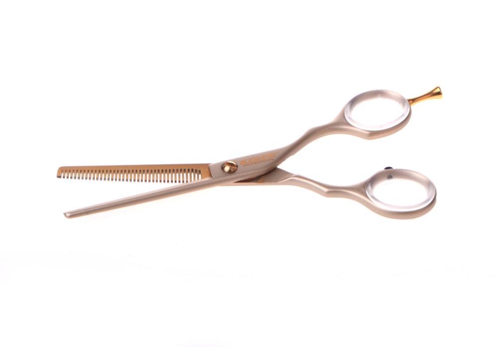"""Efilační nůžky Kiepe Luxury 5,5"""" zlaté, 38 zubů (2447/5.5-4) + DÁREK ZDARMA"""