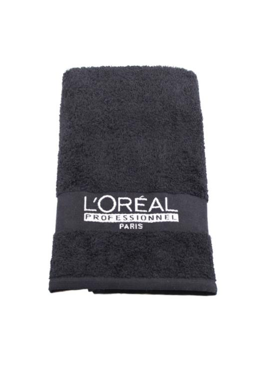 Ručník froté Loréal 50 x 82 cm - 100% bavlna, černý - 1 ks
