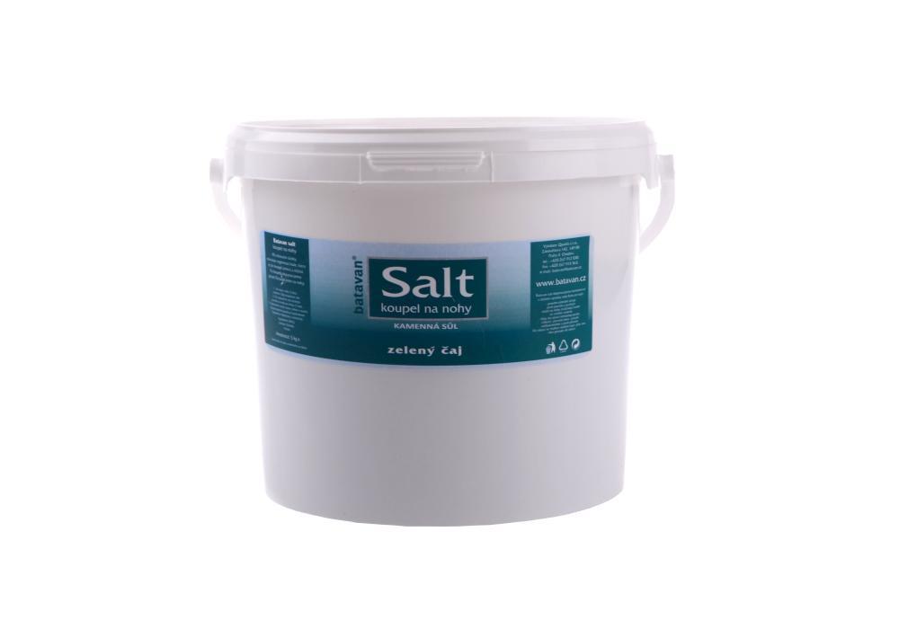 Sůl na nohy kamenná Batavan - zelený čaj - kabinetní balení 5 kg + DÁREK ZDARMA
