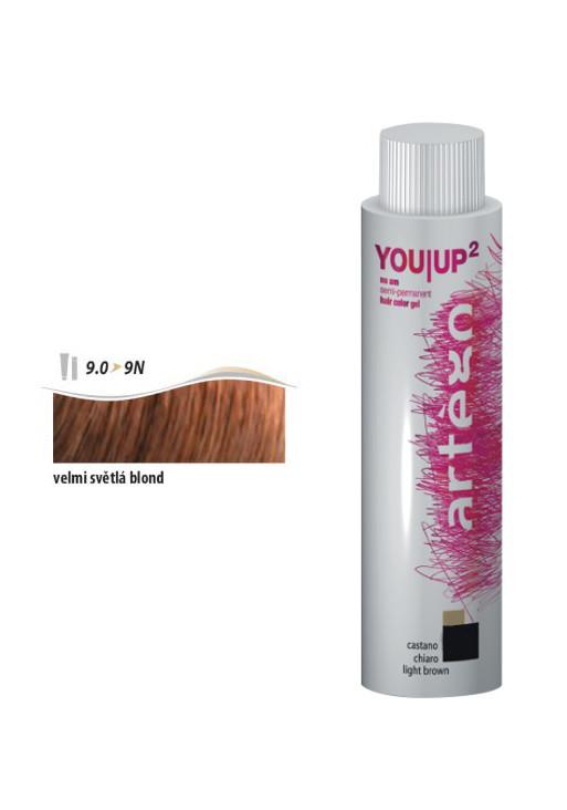 Artégo Gel tón v tónu YOU UP2 100ml - 9.0, velmi světlá blond (166009) + DÁREK ZDARMA