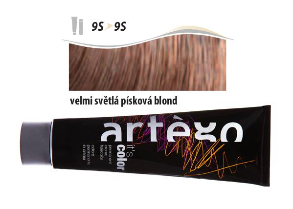Artégo Krémová barva IT'S Color 150 ml - 9S, velmi světlá písková blond (9S>9S)