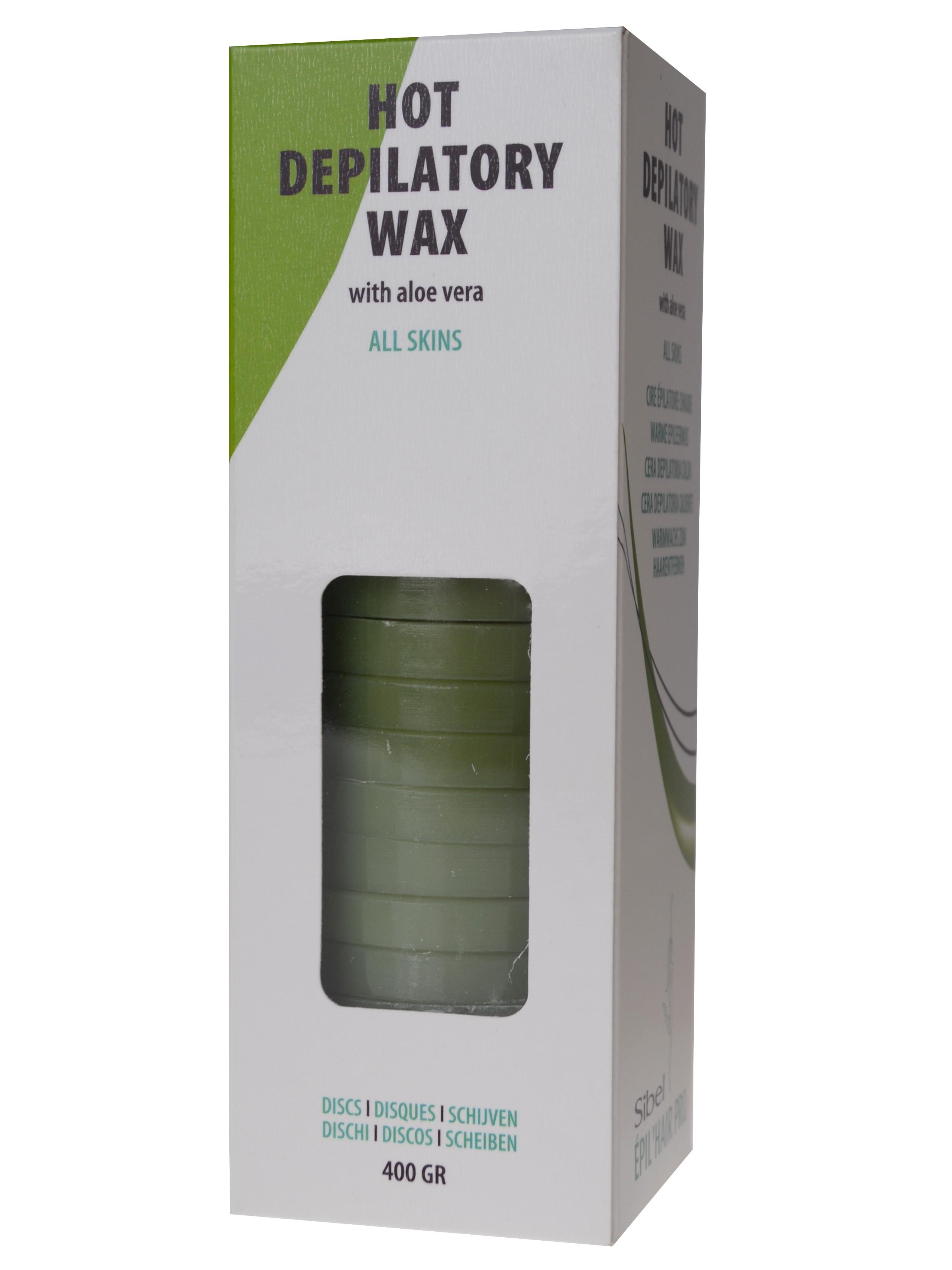 Depilační vosk pro všechny typy pleti s Aloe Vera Sibel Discs - 400 g (7410328)