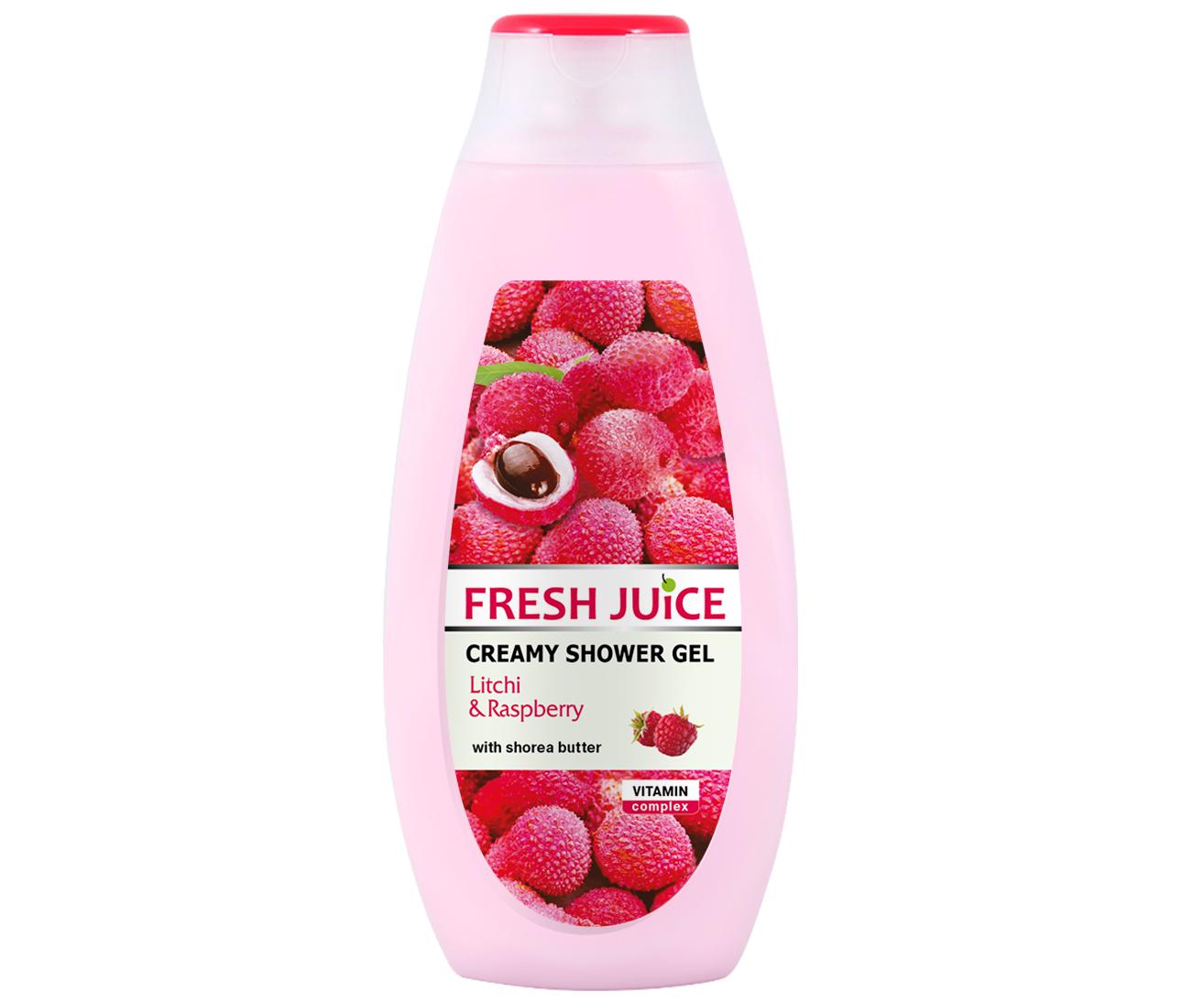 Krémový sprchový gel Fresh Juice - Liči a Malina 400 ml