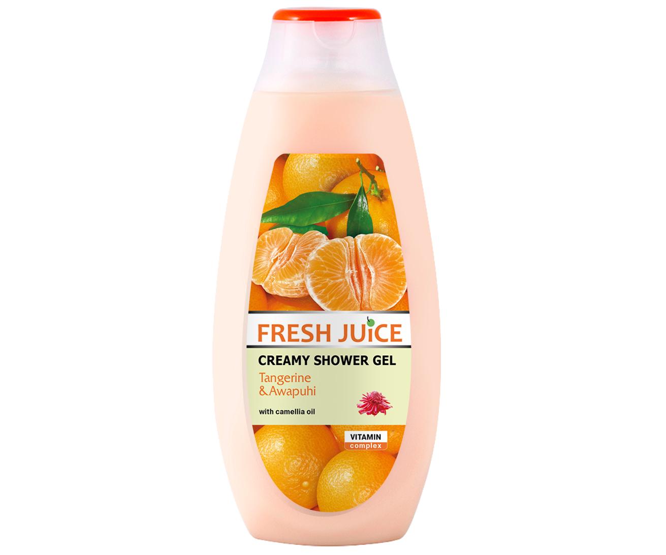 Krémový sprchový gel Fresh Juice - Mandarinka a Zázvor 400 ml