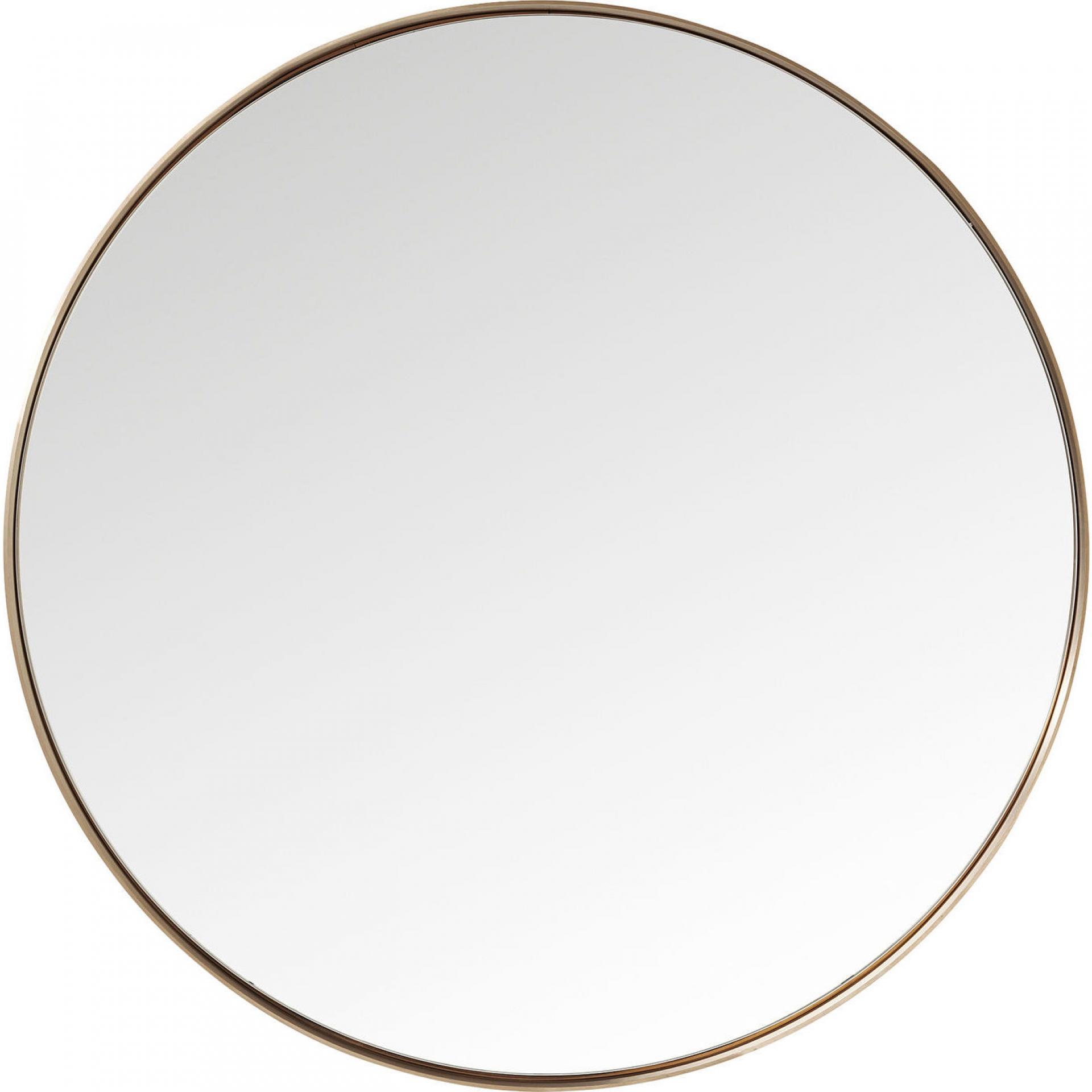 Kadeřnické zrcadlo Kare Curve Round - měděné (82716) + DÁREK ZDARMA