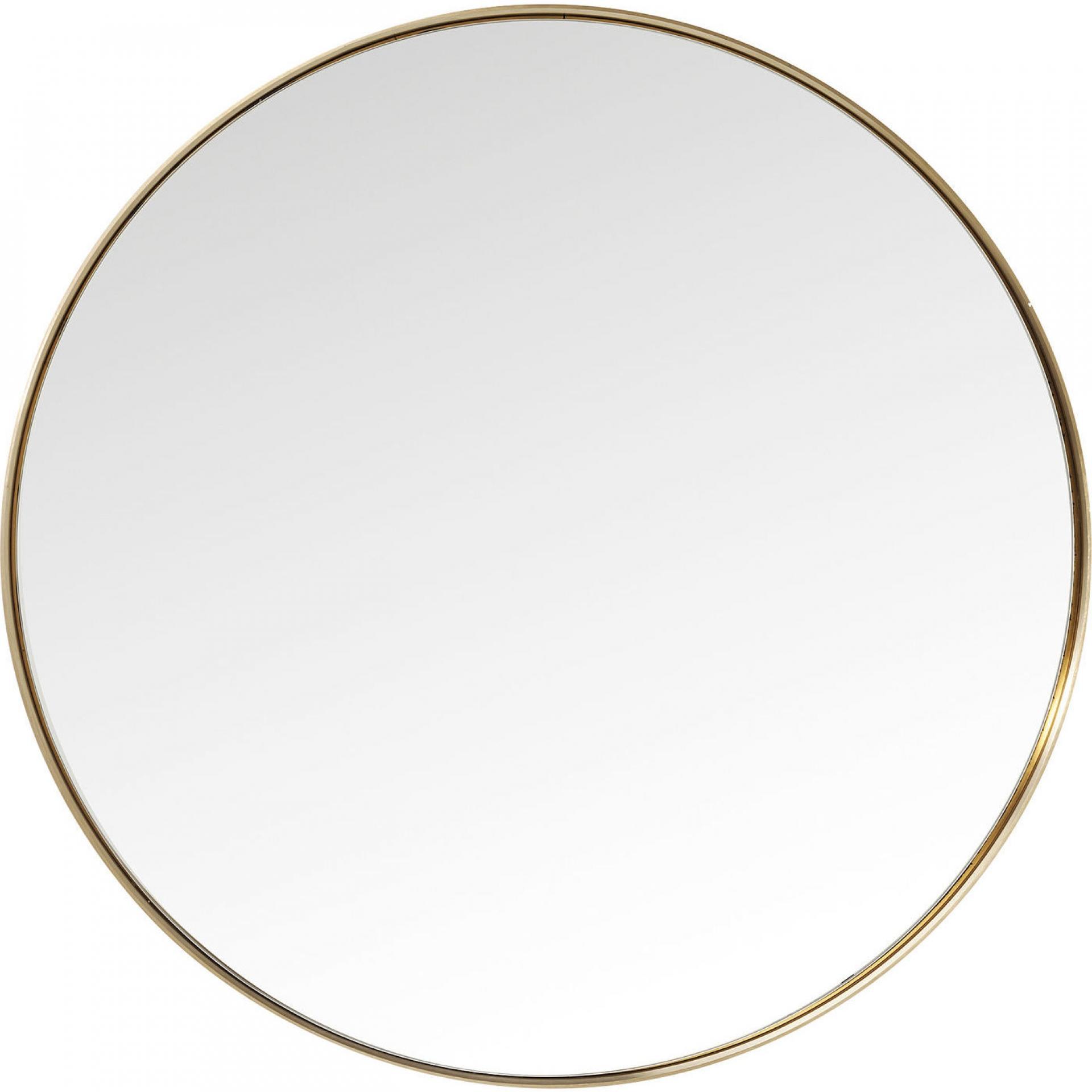 Kadeřnické zrcadlo Kare Curve Round - mosazné (82718) + DÁREK ZDARMA