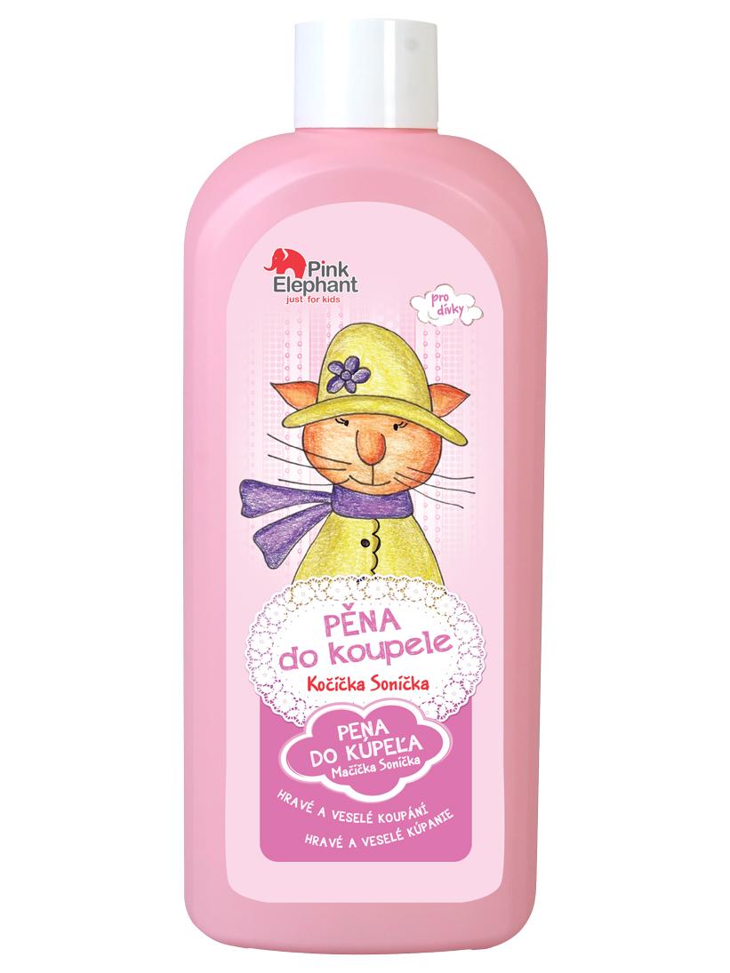 Dětská pěna do koupele Pink Elephant Kočička Sonička - 500 ml