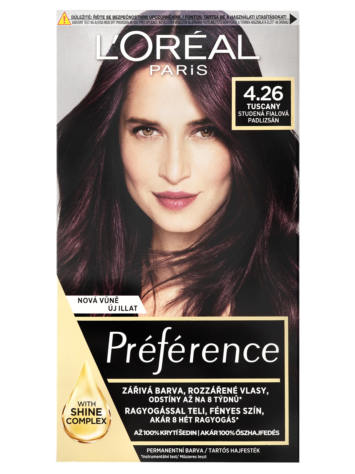 Permanentní barva Loréal Préférence 4.26 studená fialová + DÁREK ZDARMA