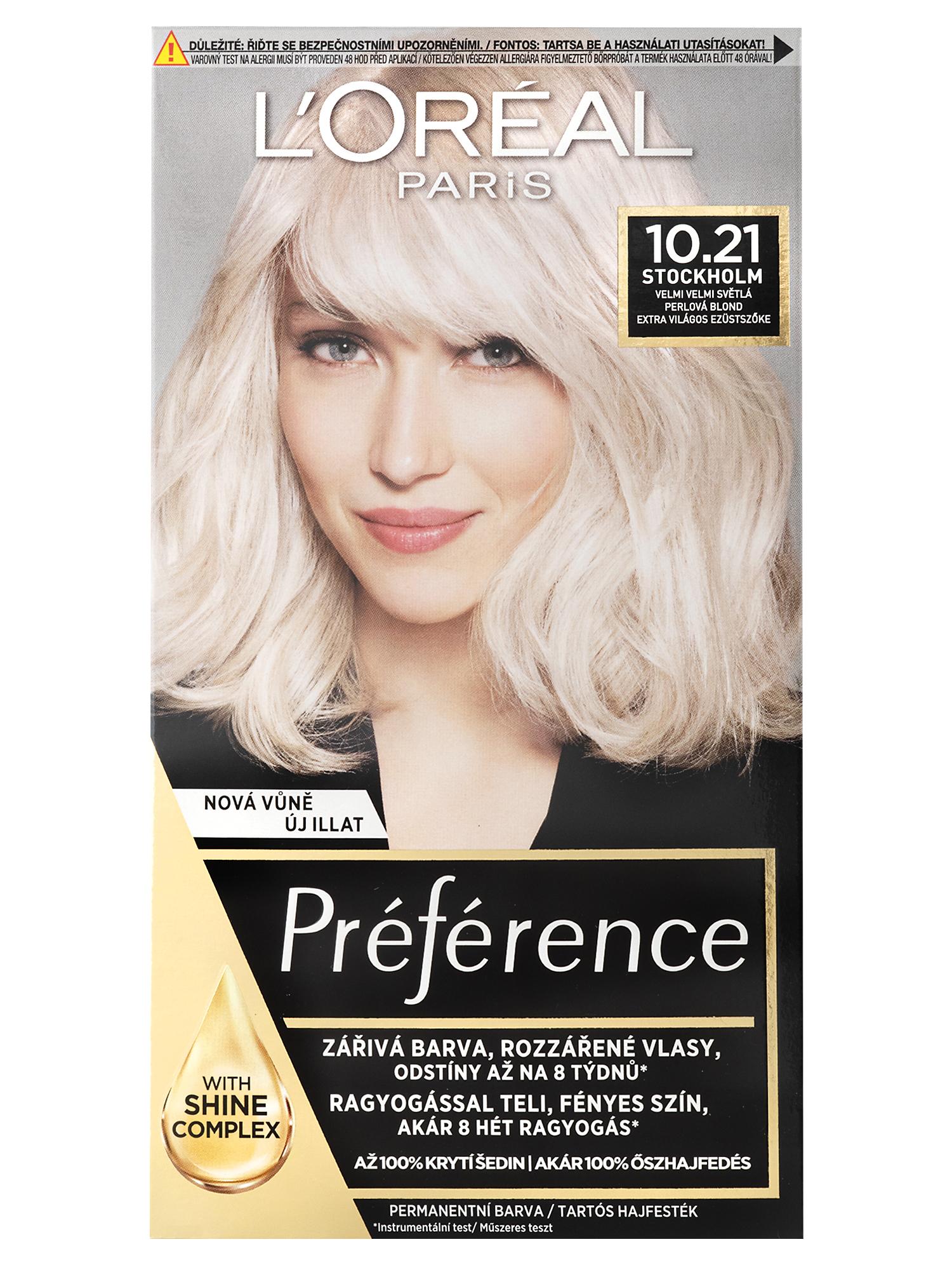 Permanentní barva Loréal Préférence 10.21 velmi velmi světlá perlová blond + DÁREK ZDARMA