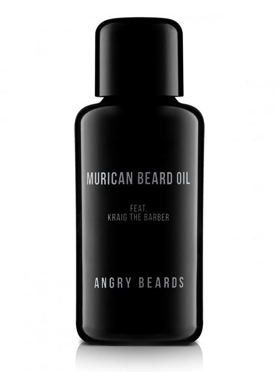 Olej na vousy a pleť Angry Beards Murican Beard Oil feat. Kraig The Barber - 1 fl oz (MURICAN-OLEJ) + DÁREK ZDARMA