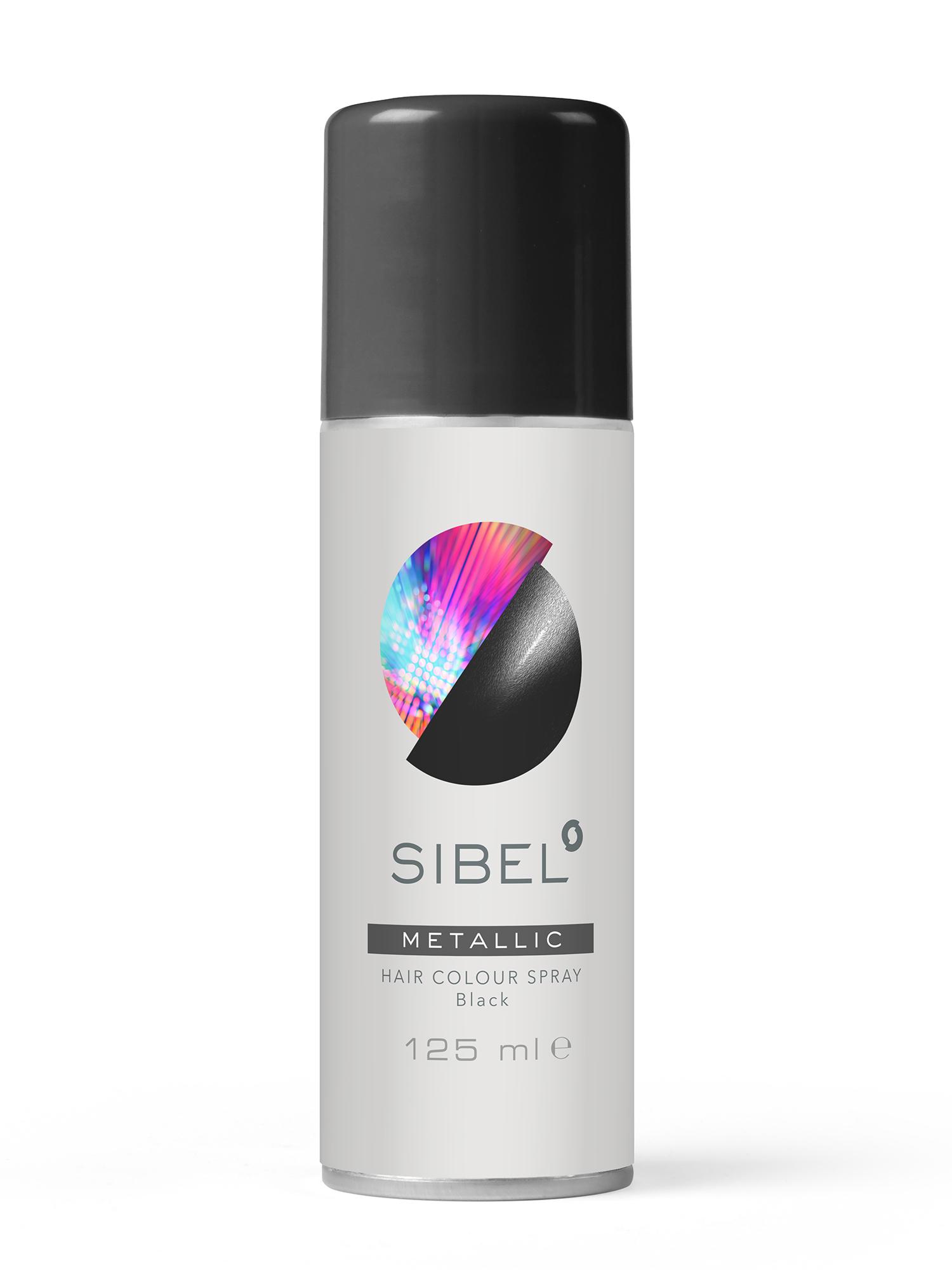 Barevný sprej na vlasy Sibel Hair Colour - černá (0230000-02)