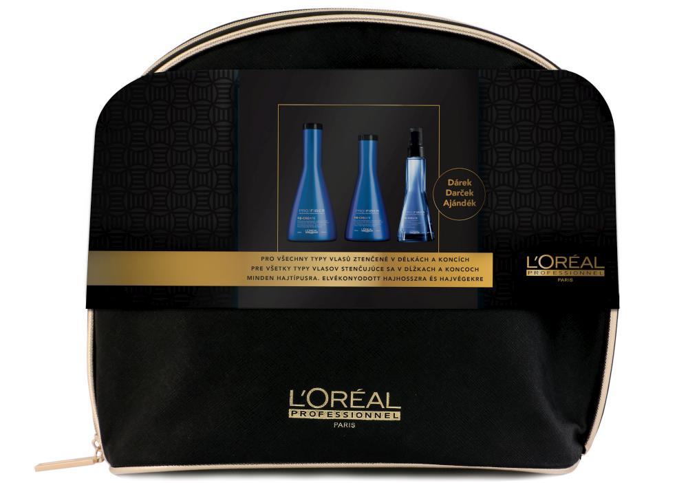 Dárková sada pro regeneraci vlasů Loréal PRO FIBER Re-Create (UCZ91019) + DÁREK ZDARMA
