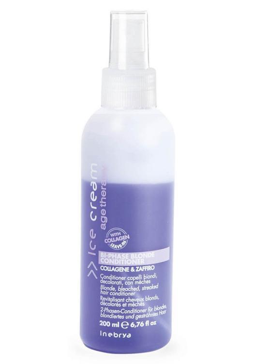 Dvoufázový kondicionér pro melírované vlasy Bi-phase Blonde - 200 ml (776177) - Inebrya + DÁREK ZDARMA