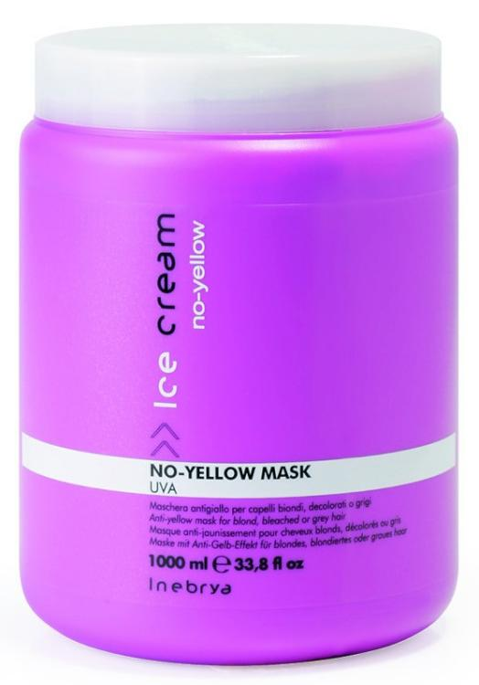 Maska pro odbarvené a šedivé vlasy Inebrya No-yellow - 1000 ml (7721174) + DÁREK ZDARMA