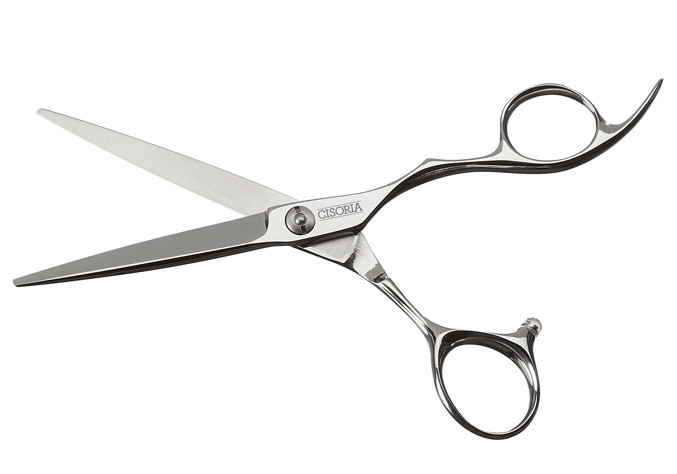 "Kadeřnické nůžky Sibel Cisoria Class O55 5,5"" stříbrné (7098255) + DÁREK ZDARMA"