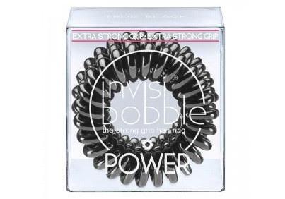 Spirálová gumička do vlasů Invisibobble Power True black - černá (203891) + DÁREK ZDARMA