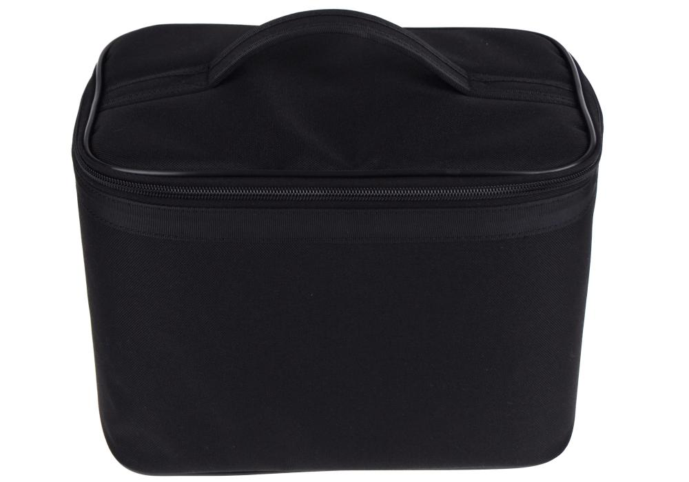 Kosmetický/kadeřnický látkový kufřík Duko - černý (6221) + DÁREK ZDARMA