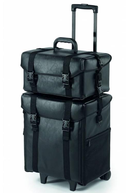 Kosmetický kufr/vozík 2v1 Sibel Make-up Trolley - černý (6600197) + DÁREK ZDARMA