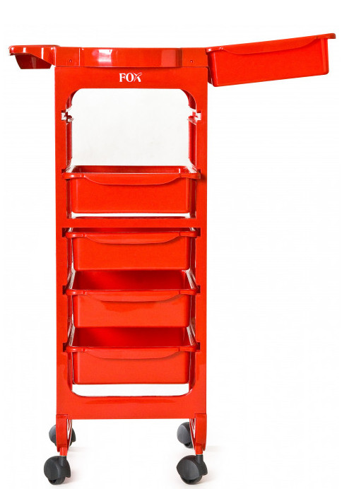 Kadeřnický pracovní vozík Fox Broadway - červený (7510018) + DÁREK ZDARMA