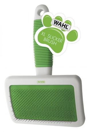 Rozčesávací velký kartáč na psí srst Wahl 858456-016 - zelený + DÁREK ZDARMA
