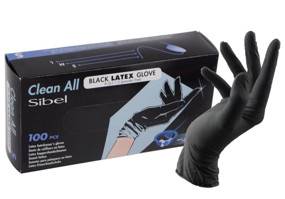Latexové rukavice pro kadeřníky Sibel Clean All 100 ks - S (093800154) + DÁREK ZDARMA