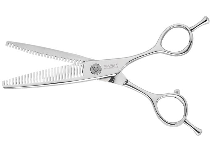 """Efilační nůžky Sibel Cisoria Luxury SDV26 6"""" - stříbrné, 52 zubů (7097927) + DÁREK ZDARMA"""