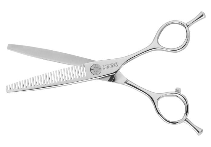 """Efilační nůžky Sibel Cisoria Luxury SB30 6"""" - stříbrné, 30 zubů (7097930) + DÁREK ZDARMA"""