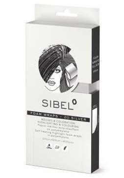 Melírovací pěnová fólie Sibel High-Light 20 x 9,5 cm - stříbrná, 200 ks (4333071)