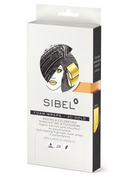 Melírovací pěnová fólie Sibel High-Light 20 x 9,5 cm - zlatá, 200 ks (4333051)