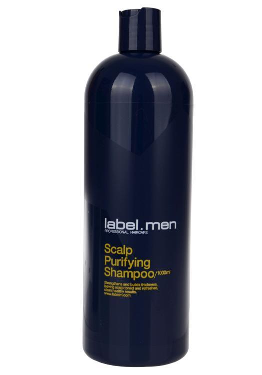 Pánský čistící šampon Label.m Scalp Purifying - 1000 ml (600536) + DÁREK ZDARMA