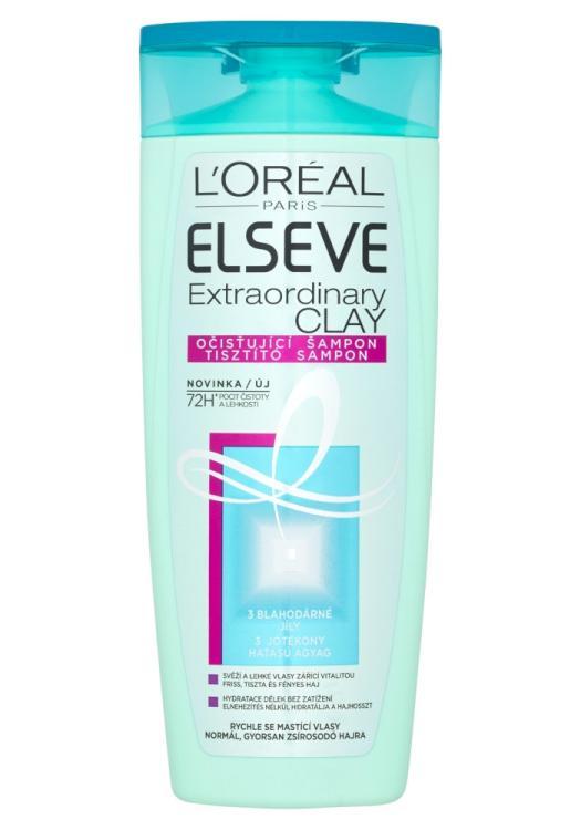 Šampon pro rychle se mastící vlasy Loréal Elseve Extraordinary Clay - 250 ml