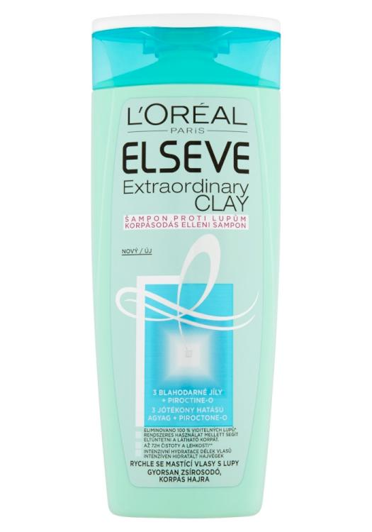 Šampon proti lupům Loréal Elseve Extraordinary Clay - 250 ml
