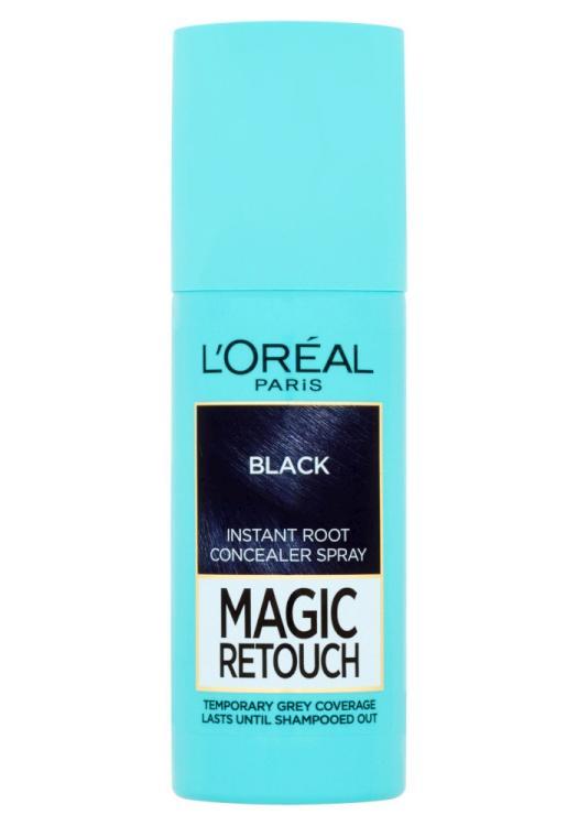 Sprej pro zakrytí odrostů Loréal Paris Magic Retouch - 75 ml, černá