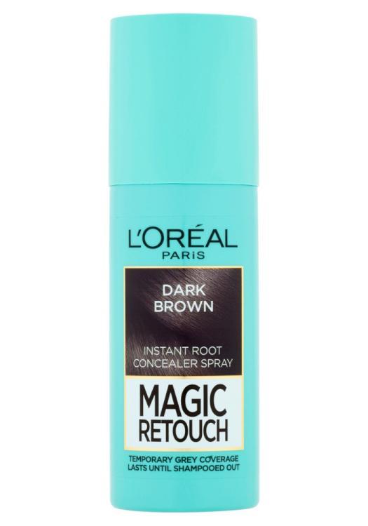 Sprej pro zakrytí odrostů Loréal Paris Magic Retouch - 75 ml, tmavě hnědá