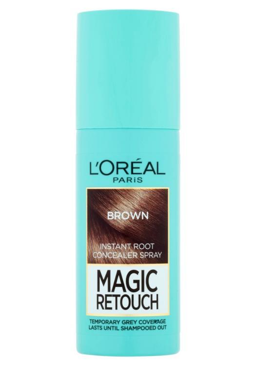 Sprej pro zakrytí odrostů Loréal Paris Magic Retouch - 75 ml, světle hnědá