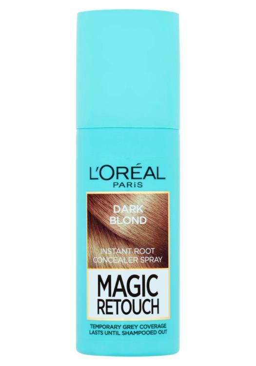 Sprej pro zakrytí odrostů Loréal Paris Magic Retouch - 75 ml, tmavá blond