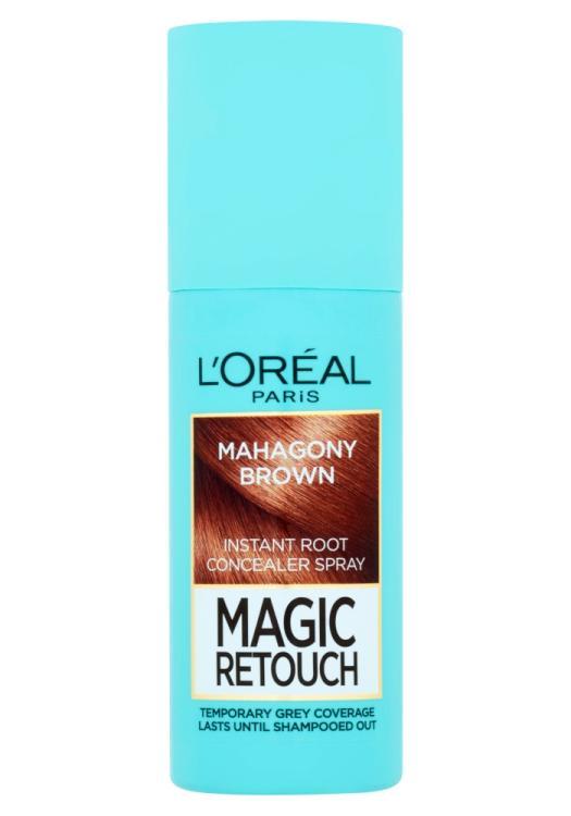 Sprej pro zakrytí odrostů Loréal Paris Magic Retouch - 75 ml, mahagonová