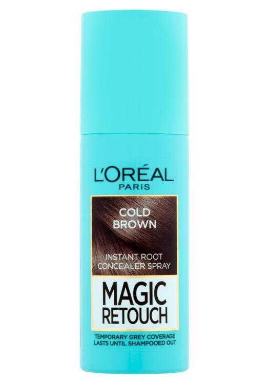 Sprej pro zakrytí odrostů Loréal Paris Magic Retouch - 75 ml, ledově hnědá
