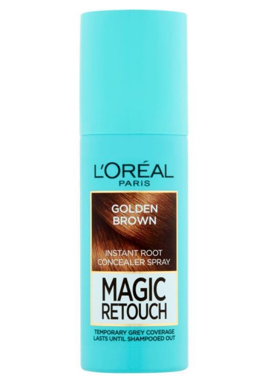 Sprej pro zakrytí odrostů Loréal Paris Magic Retouch - 75 ml, oříškově hnědá
