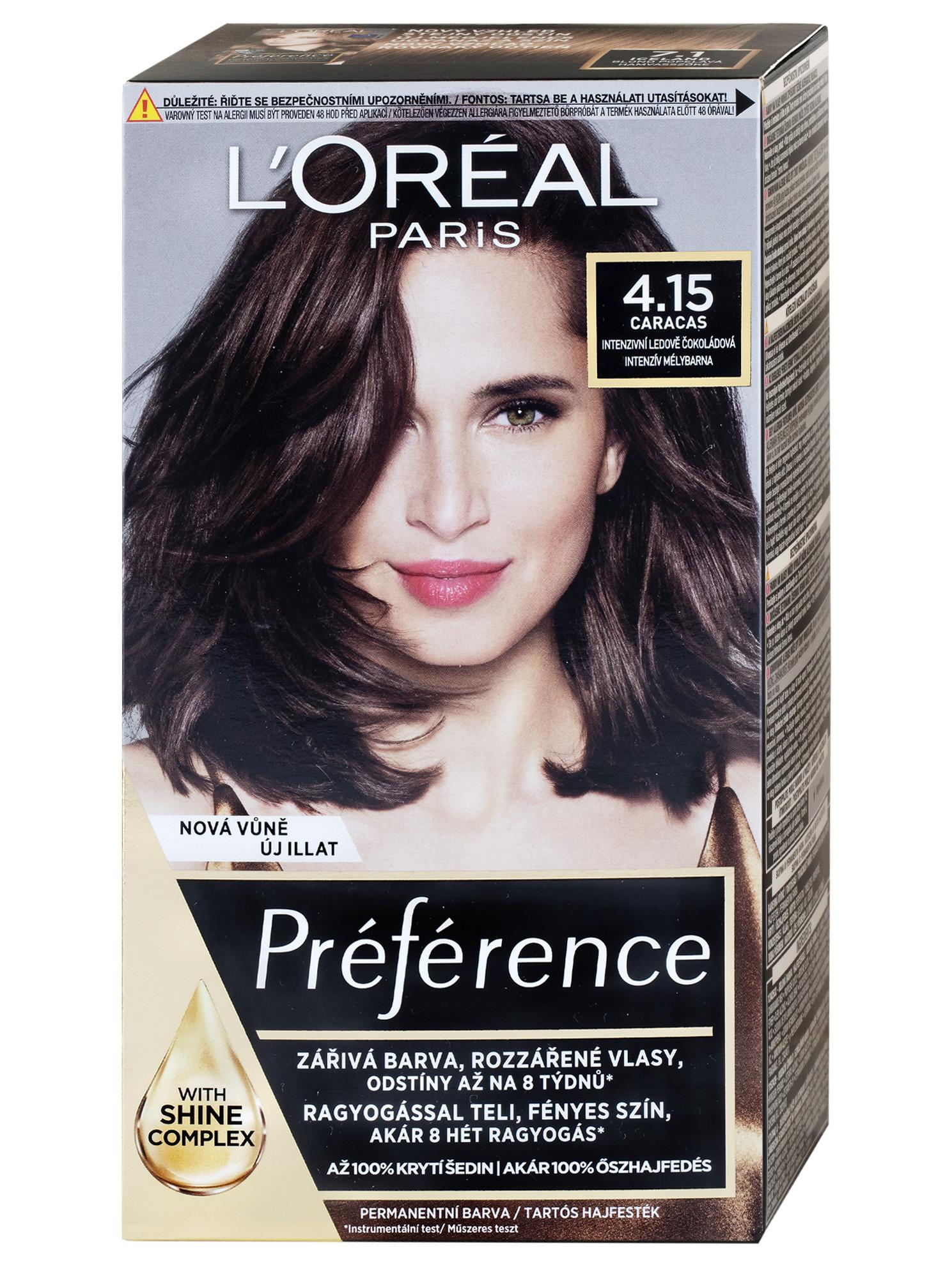 Permanentní barva Loréal Préférence 4.15intenzivní ledově čokoládová + DÁREK ZDARMA