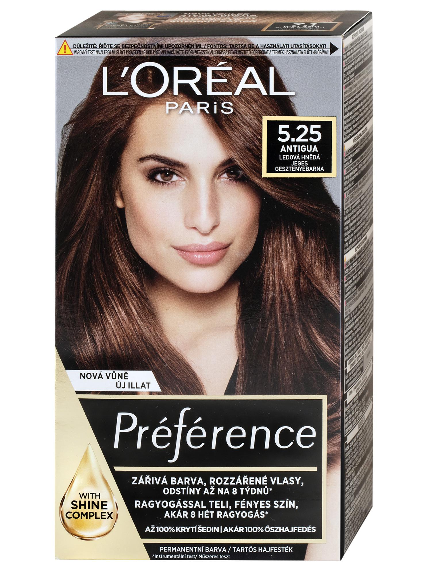 Permanentní barva Loréal Préférence 5.25 ledová hnědá + DÁREK ZDARMA