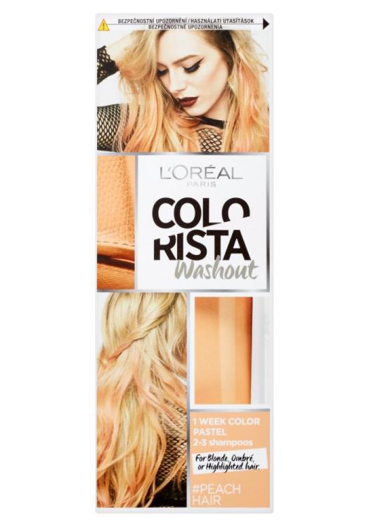 Vymývající se barva Loréal Colorista Washout Peach Hair - broskvová